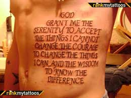 serenity prayer religious tattoo tattoomagz