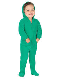 forrest green hoodie one infant hooded footed pajamas