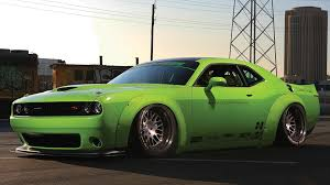 widebody hellcat green dub magazine project hulk liberty walk challenger