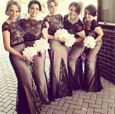 black and white wedding bridesmaid dresses 2016 wedding bridesmaid dresses bateau cap sleeves