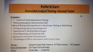 Resume For Manual Testing Sunlife Financials Openings For Manual Testing
