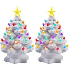 mr christmas 2pk mr christmas 7 porcelain christmas tree decoration color led