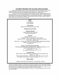 Sample Music Resume For College Application Cover Letter Sample Student Resume For College Application Sample