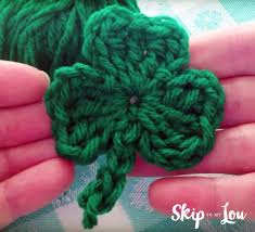 free crochet shamrock pattern with a video skip to my lou