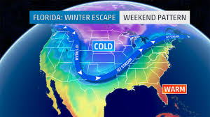 Us East Coast Map Snow To Threaten Slippery Travel In Southern Us As Week Concludes
