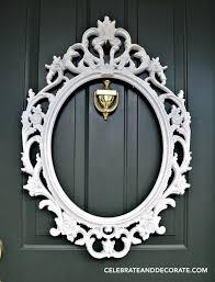 Wreath For Front Door Diy Picture Frame Wreath Celebrate U0026 Decorate