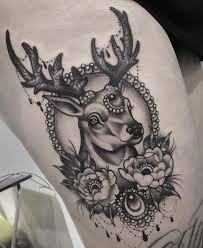 small deer head tattoo meaning tattoo design