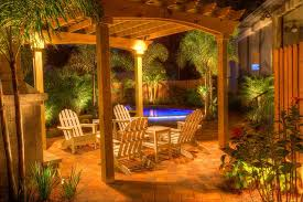 landscape lighting with pergola traditional patio tampa by
