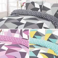 wardley home geometric shapes pattern bold bright duvet quilt
