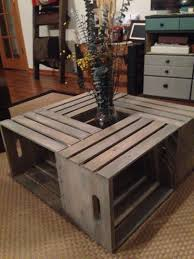 coffee table adorable wine crate table diy dish garden diy
