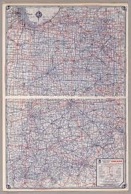 Map Indiana Rand Mcnally Road Map Indiana David Rumsey Historical Map