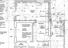 technical drawing floor plan grid design and architecture architects glasgow kitchen