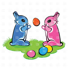 bunny with easter eggs and basket vector image 7843 u2013 rfclipart