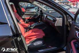 porsche macan 2016 interior techart widebody porsche macan black red interior tag