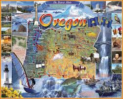 oregon state map jigsaw puzzle puzzlewarehouse