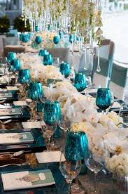 blue and white table ls tiffanyblue teal turquoise white wedding table budget wedding