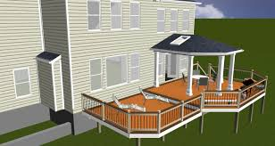 covered porch design rendering highland md maryland custom