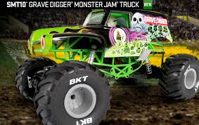 original grave digger monster truck axial racing smt10 grave digger monster jam truck 1 10th scale