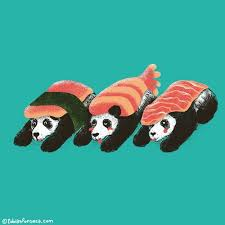Urban Sushi Kitchen - panda sushi tshirts art prints iphone cases pillows at my