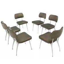 Aluminum Dining Room Chairs Set Of Six Cast Aluminum Dining Chairs Dining Chairs Mid