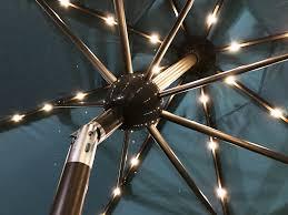 solar umbrella clip lights solar umbrella sorara outdoor living 9 x7 umbrella with solar