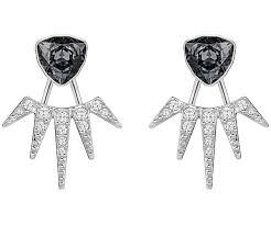 earring jackets fantastic pierced earring jackets gray rhodium plating jewelry
