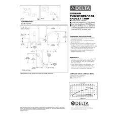 Delta Faucet Parts Diagram Delta Faucet T2738 Lahara Polished Chrome Two Handle Roman Tub