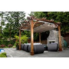 Pergola Retractable Canopy by Arched Breeze Pergola 10 Ft X 12 Ft With Retractable Canopy
