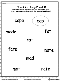 learning long vowels a to u long vowels phonics worksheets and