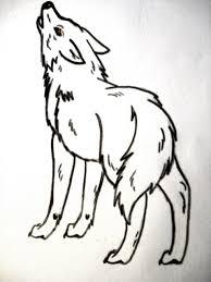 howling wolf back view by matrixpotato on deviantart
