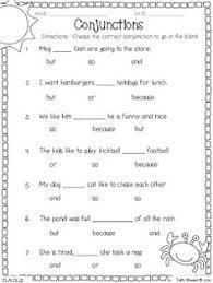 19 best images of conjunction worksheets for 1st grade