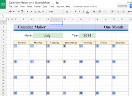 Google Spreadsheet Jr Says Whether Or Not Anyone Is Listening Make A Calender