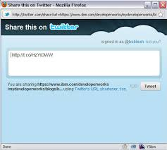 https twitter tweet button for your web page or blog design ibm
