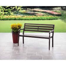 Metal Deck Bench Brackets - lifetime wood alternative patio glider bench the home depot images
