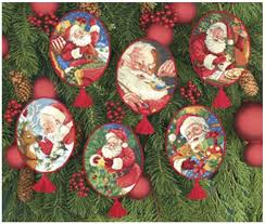 top quality lovely counted cross stitch kit ornament santa
