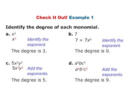 worksheet degree of a monomial laurelmacy worksheets for