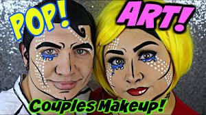 Halloween Makeup Comic Couples Pop Art Halloween Makeup Tutorial Beautybyjosiek Youtube