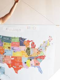 Usa Wall Map by Giant Canvas Wall Banner Usa Map U2013 The Lovely Wall Company
