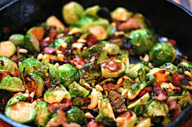 brussel sprouts for thanksgiving sauteed brussels sprouts with bacon and pine nuts dishin u0026 dishes