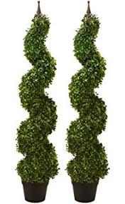 topiary trees two pre potted 4 artificial cedar topiary outdoor