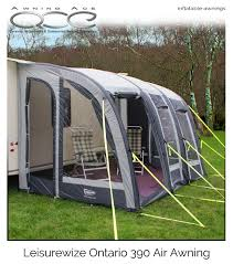 New Caravan Awnings Leisurewize Ontario 390 Inflatable Air Caravan Awning Awningace Com