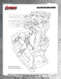 avengers quicksilver coloring page disney movies