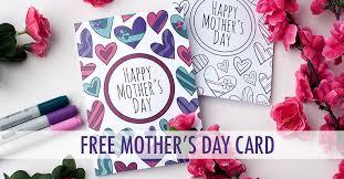 free mother u0027s day card printable template sarah renae clark