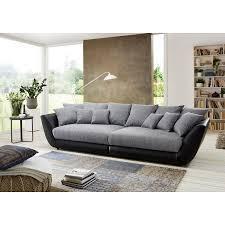 big sofa schwarz roller big sofa schwarz grau federkern mit 12 kissen