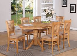 Oval Dining Table Set For 6 Vancouver 7pc Oval Dinette Dining Table 6 Microfiber Chairs Oak Finish