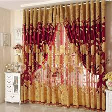 Curtains For A Room Luxury Tulle For Windows Curtain Jacquard Embroidered Volie Sheer