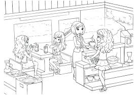 coloring pages lego friends coloring sheets free lego friends