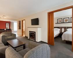 Bed And Living Montreal Hotel Rooms Suites Embassy Suites By Hilton Montreal