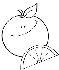 orange fruit coloring page orange fruit alphabet coloring pages