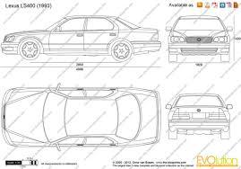 lexus ls400 models the blueprints com vector drawing lexus ls400